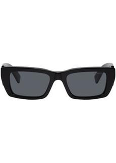 8 Moncler Palm Angels Black Rectangular Sunglasses