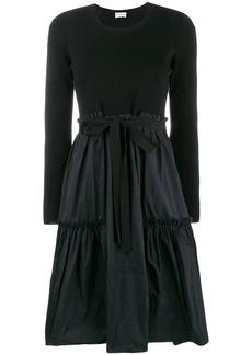 Moncler A-Line Bow Tie Midi Dress