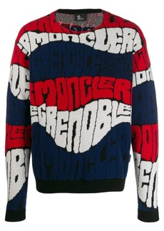 Moncler all-over logo jumper
