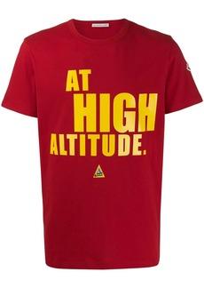 "Moncler ""at high altitude"" print T-shirt"