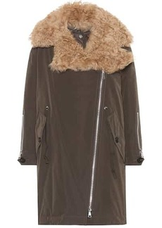 Moncler Aucuba shearling-trimmed down coat