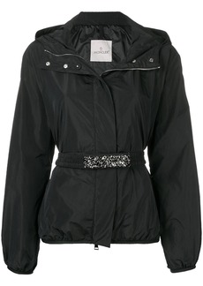 Moncler belted shell jacket