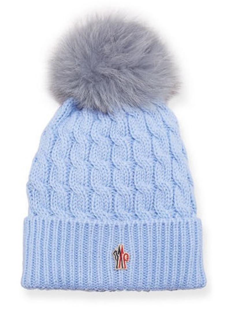 022495014f0 Moncler Berretto Knit Hat w  Fur Pompom