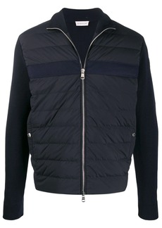 Moncler bi-material quilted jacket