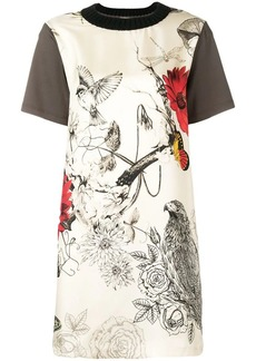 Moncler bird print T-shirt dress