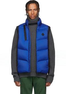Moncler Black & Blue Down Jacot Vest