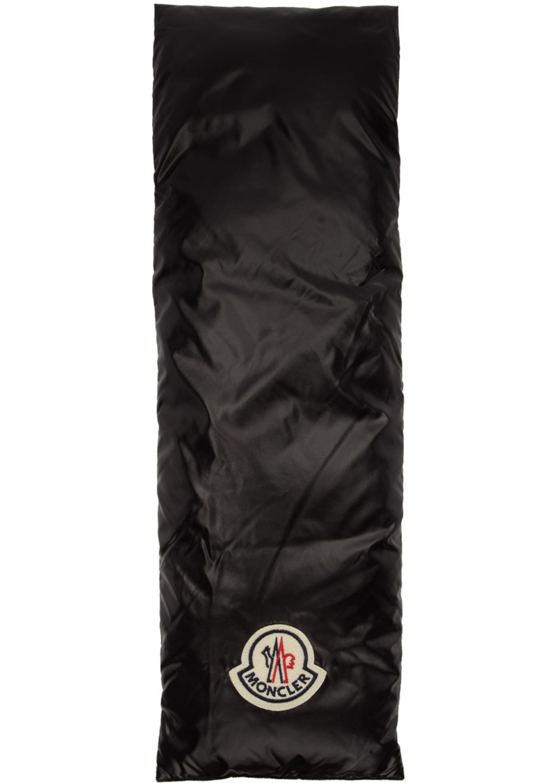 Moncler Black & White Down Scarf