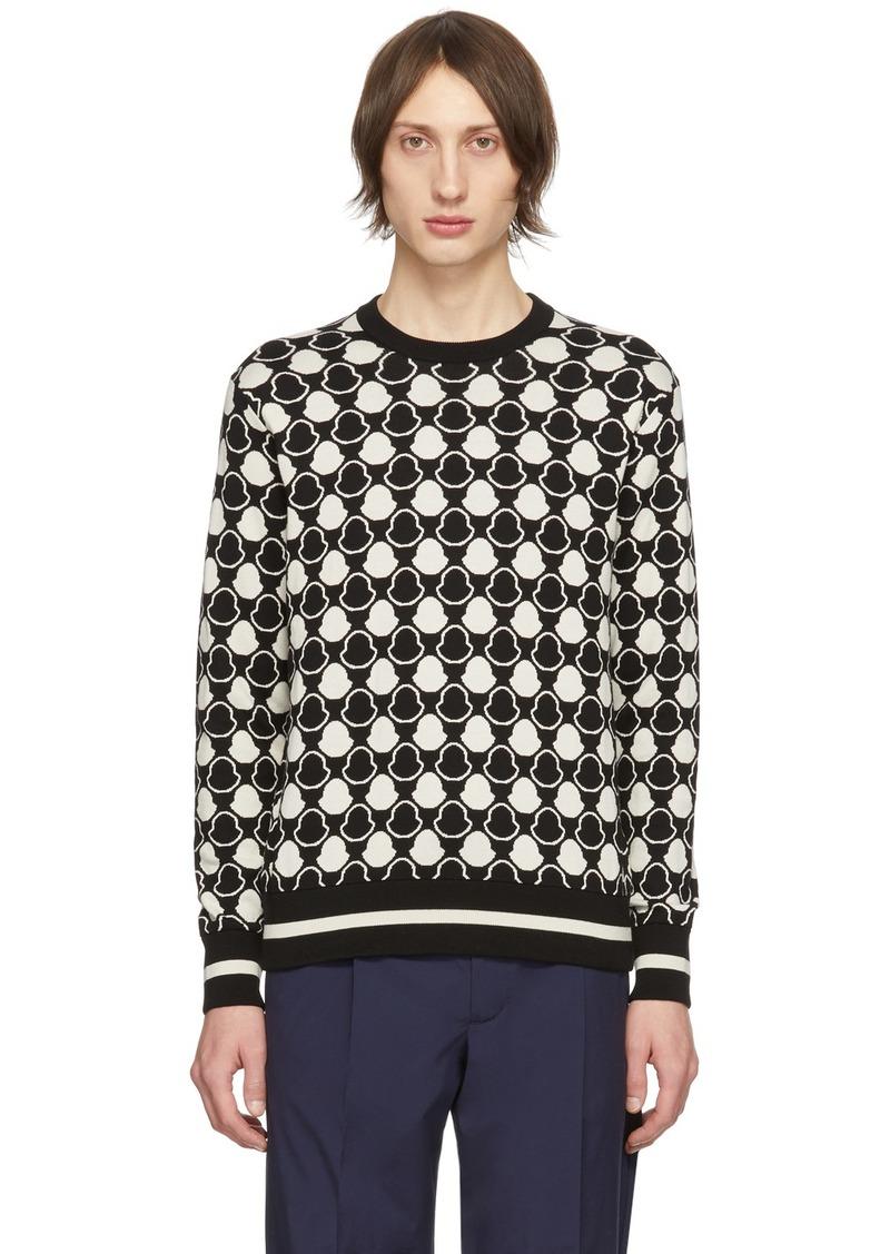 Moncler Black & White Jacquard Bell Sweater