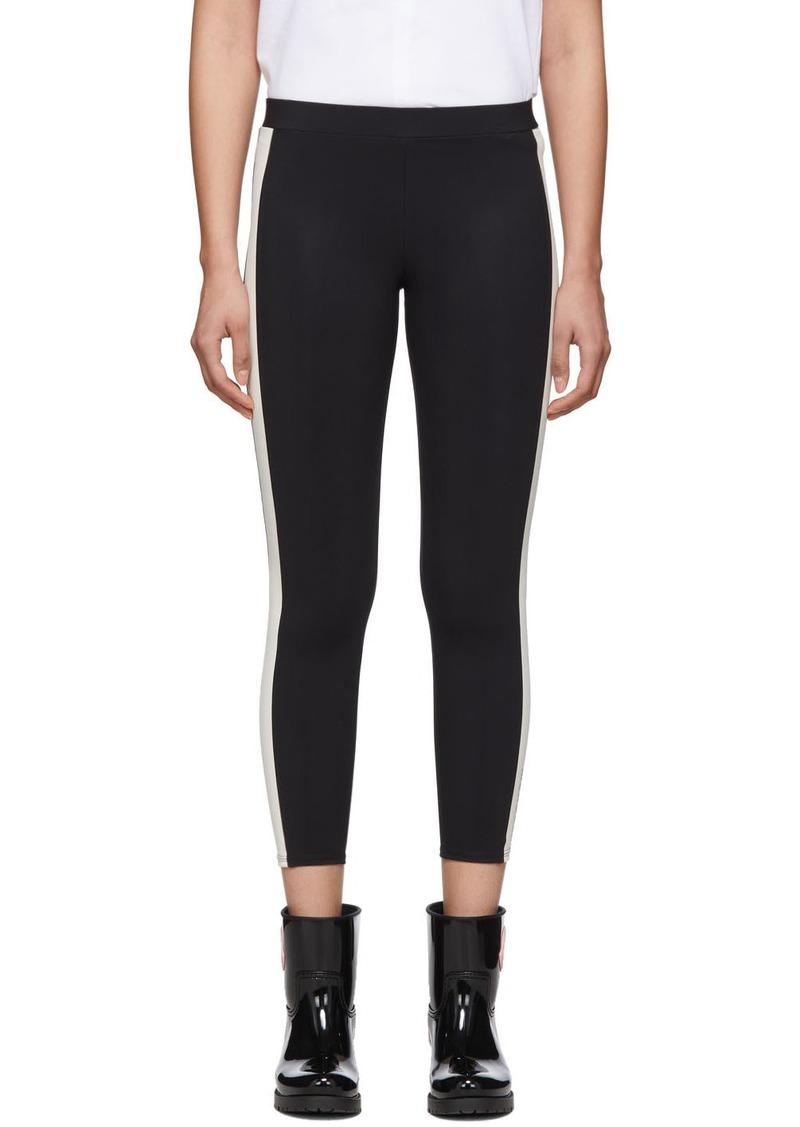 Moncler Black & White Side Stripe Leggings