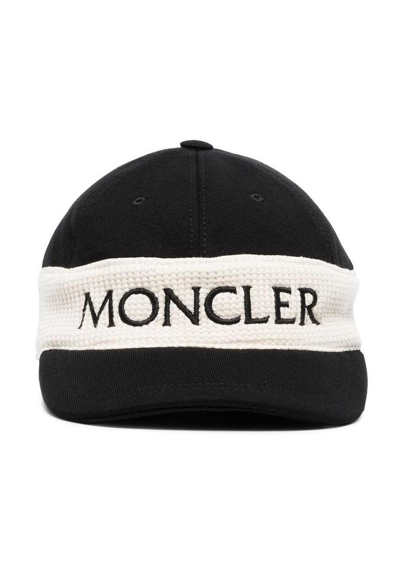 Moncler black and white logo cap