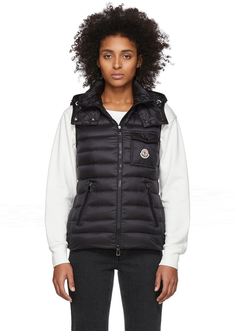 Moncler Black Down Glycine Vest