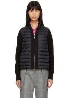 Moncler Black Down Knit Combo Jacket