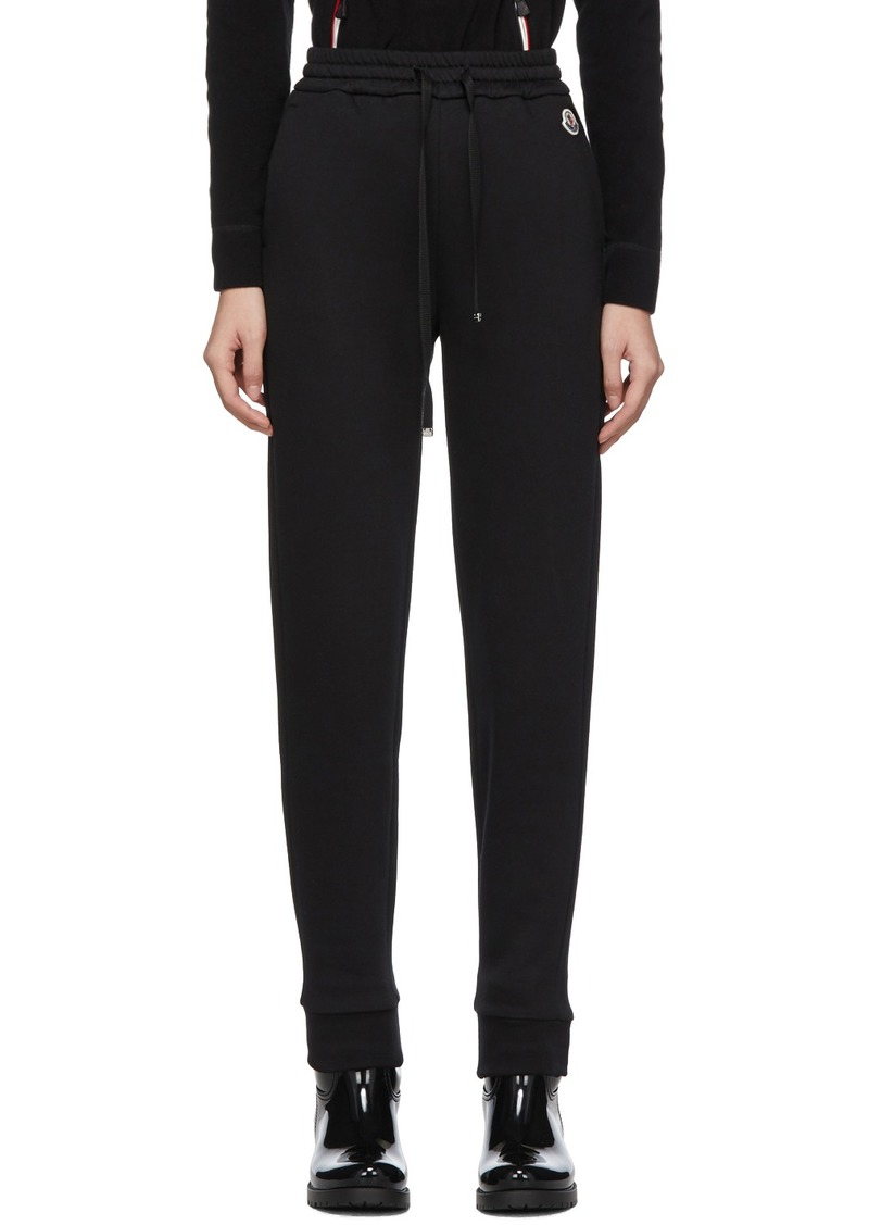 Moncler Black Grosgrain Drawstring Lounge Pants