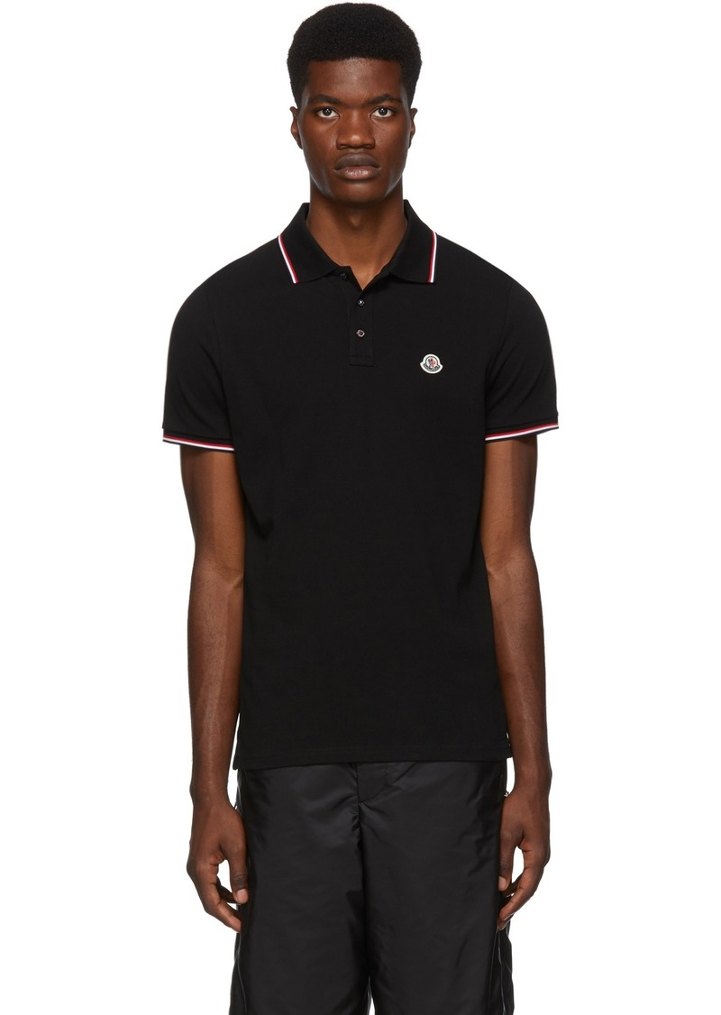Moncler Black Logo Patch Polo