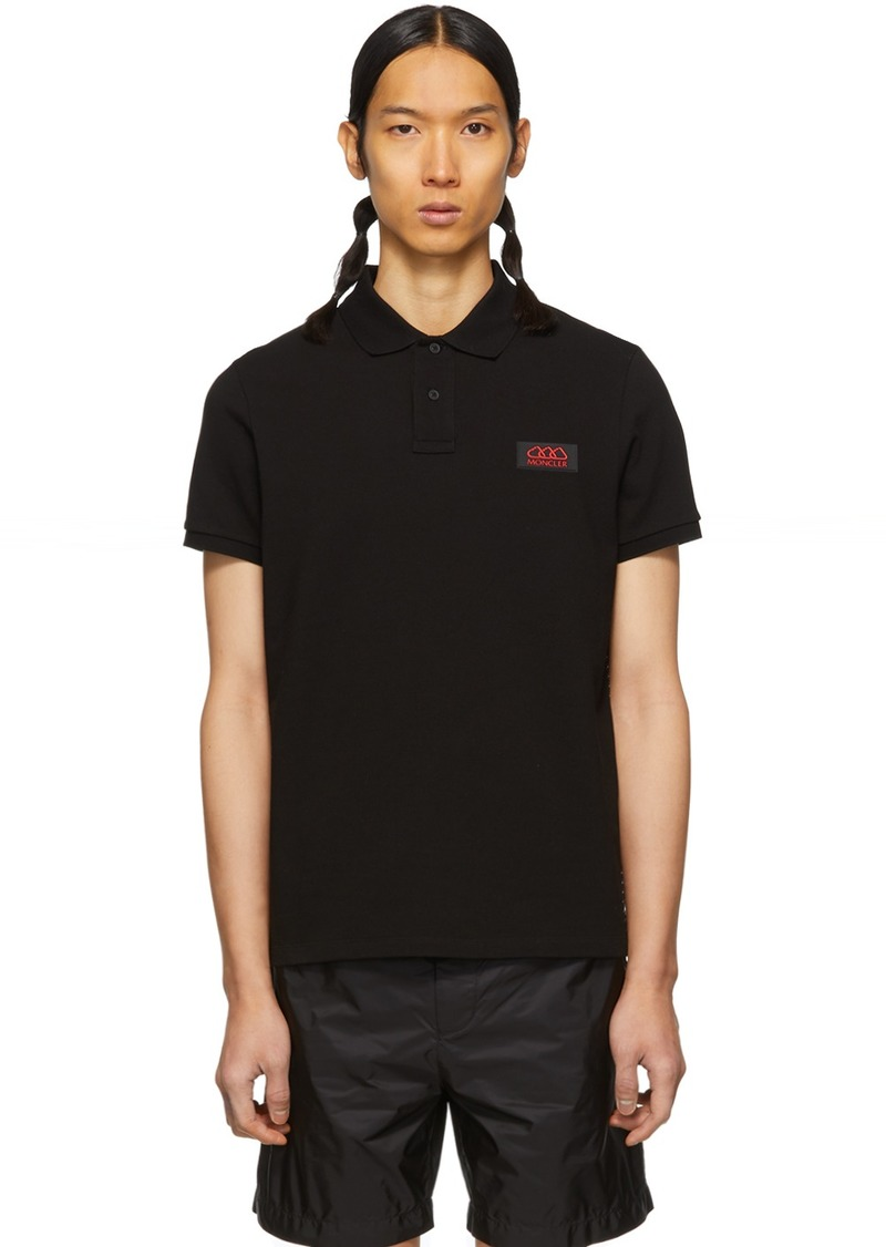 Moncler Black Piping Polo