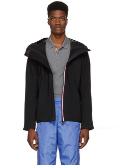 Moncler Black Plair Technique Wind Stopper Zip-Up Jacket
