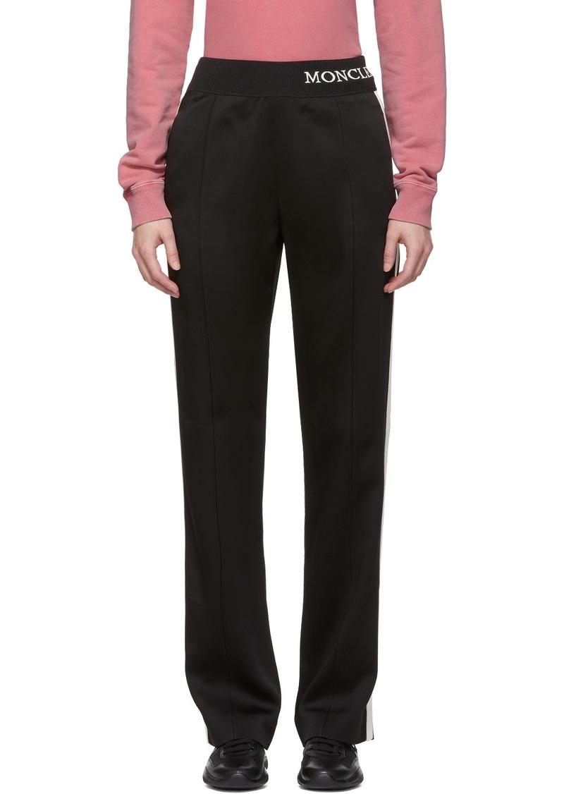Moncler Black Satin Lounge Pants