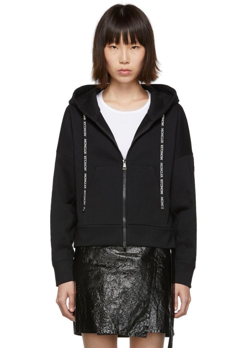 Moncler Black Zip-Up Sweater