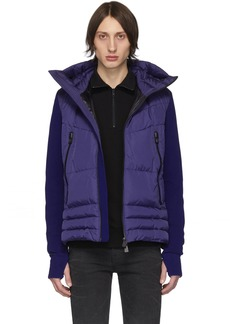 Moncler Blue Down Maglia Cardigan Jacket