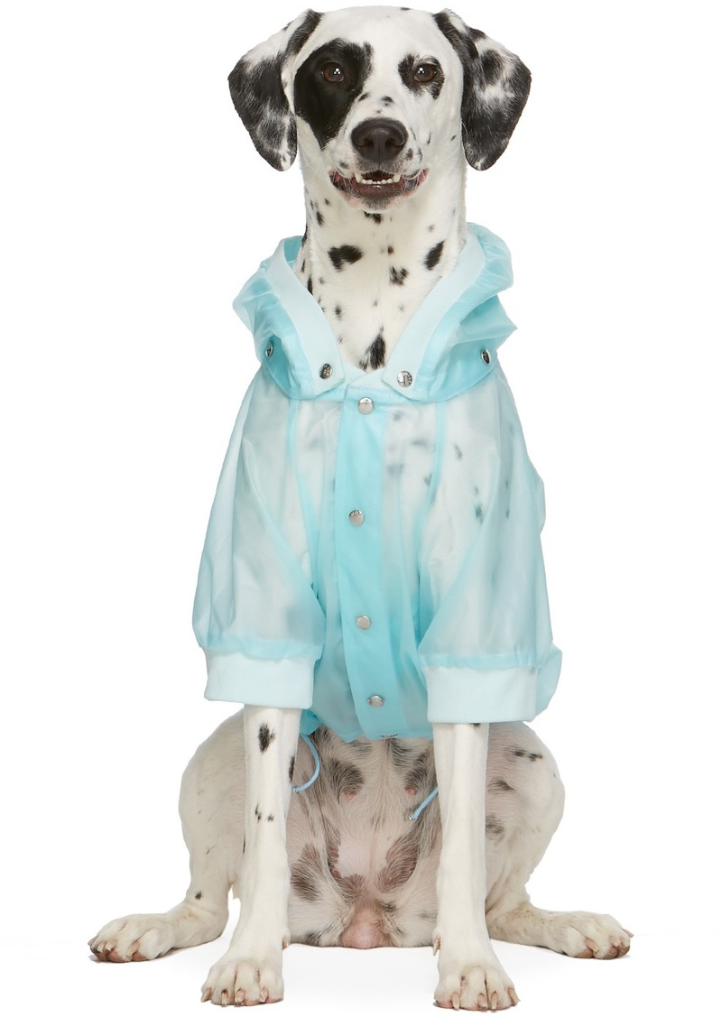 Moncler Blue Poldo Dog Couture Edition Waterproof Coat