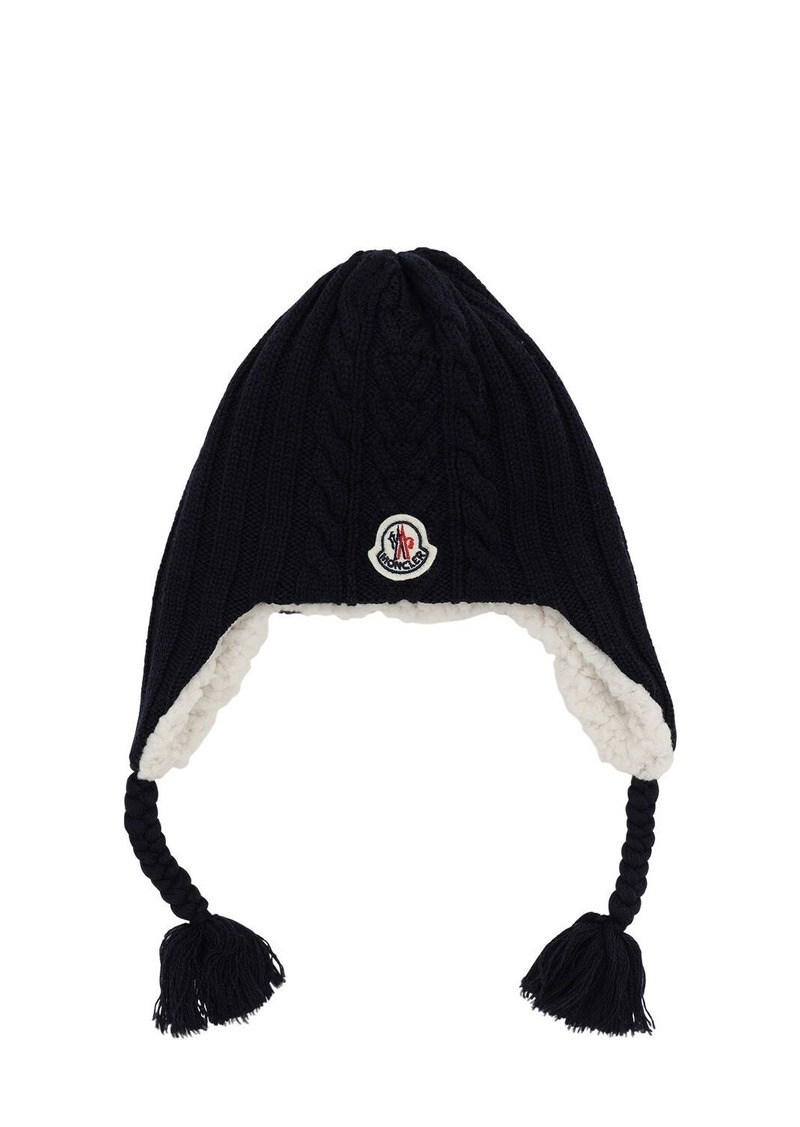 Moncler Boucle Wool & Terrycloth Hat