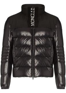 Moncler Bruel logo print padded coat