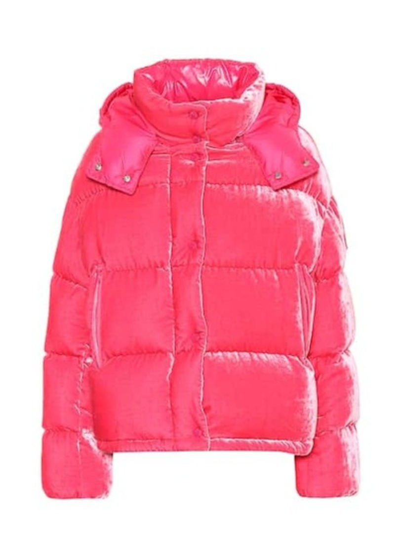 Moncler Caille velvet puffer jacket