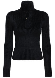 Moncler Chenille Knit Sweater W/cut Out