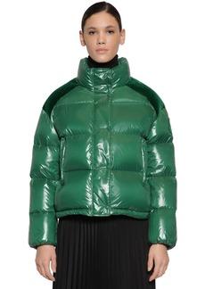 Moncler Chouette Nylon Velvet Laqué Down Jacket