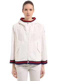Moncler Cleo Hooded Zip-up Nylon Jacket