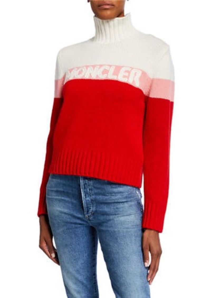 Moncler Colorblock Logo Sweater