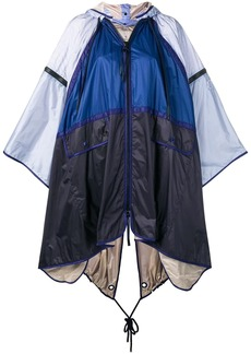 Moncler colour block hooded cape