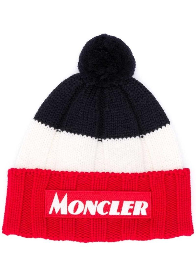 Moncler colour block knit beanie