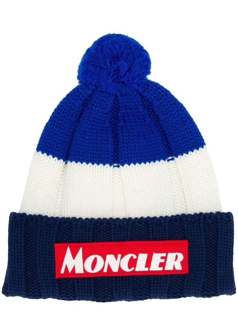 Moncler colour block logo hat