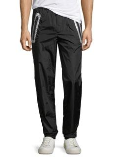 Moncler Contrast-Trim Nylon Pants