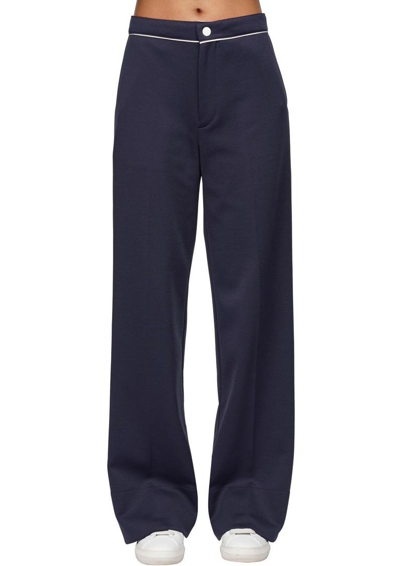 Moncler Cotton Blend Wide Leg Pants
