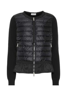 Moncler Cotton-trimmed down jacket