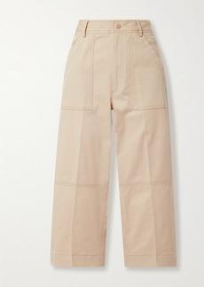 Moncler Cropped Cotton-blend Gabardine Pants
