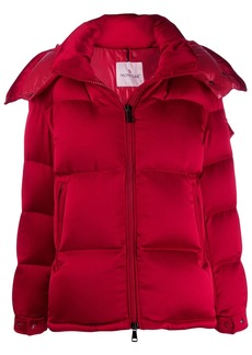 Moncler detachable hood puffer jacket
