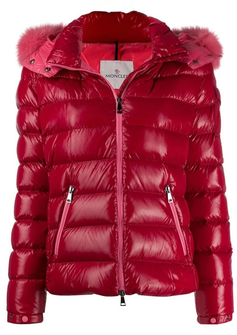 Moncler fur trim down jacket