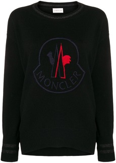Moncler embroided logo sweater