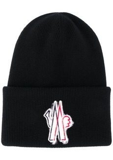 Moncler embroidered logo patch hat