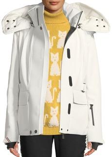 Moncler Entova Coat with Detachable Fur Hood