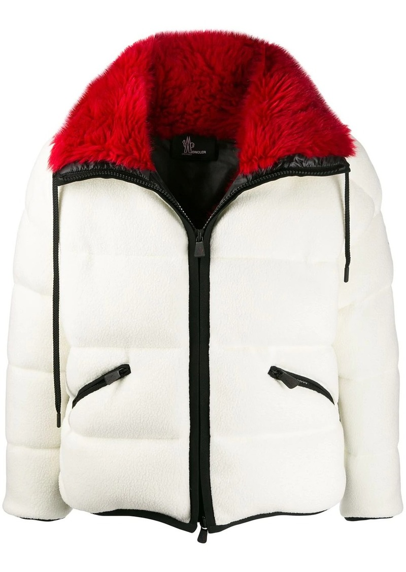 Moncler faux fur trim padded jacket