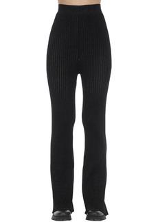 Moncler 1952 Flared Viscose Blend Tricot Pants