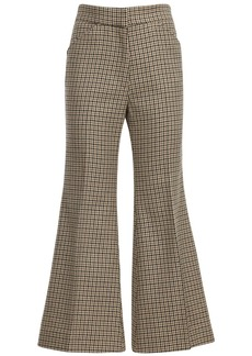 Moncler Flared Wool & Cotton Crop Pants