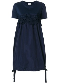 Moncler floral embroidered T-shirt dress