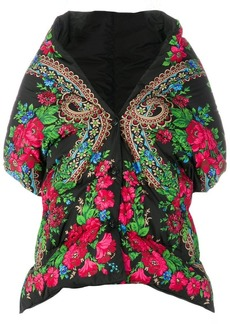 Moncler floral print padded cape
