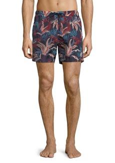 Moncler Floral-Print Swim Trunks
