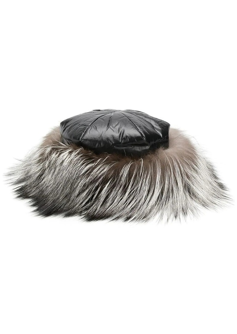 Moncler fox fur hat